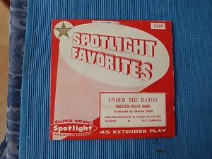 RECORD-45-RPM-SPOTLIGHT-FAVOURITES-UNDER-THE-BATON-PRESTON-BRASS-BAND-EP