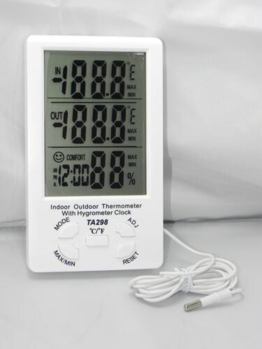 THERMOMETER E HYGROMETER TEMPERATURE AND HUMIDITY WITH PROBE SCREEN LED