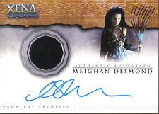 XENA BEAUTY AND BRAWN AUTOGRAPHED COSTUME CARD AC3 MEIGHAN DESMON