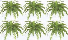 """6 BOSTON FERN 24"""" X 48 SILK LEAF BUSH PLANT ARTIFICIAL SHRUB ARRANGEMENT PORCH"""