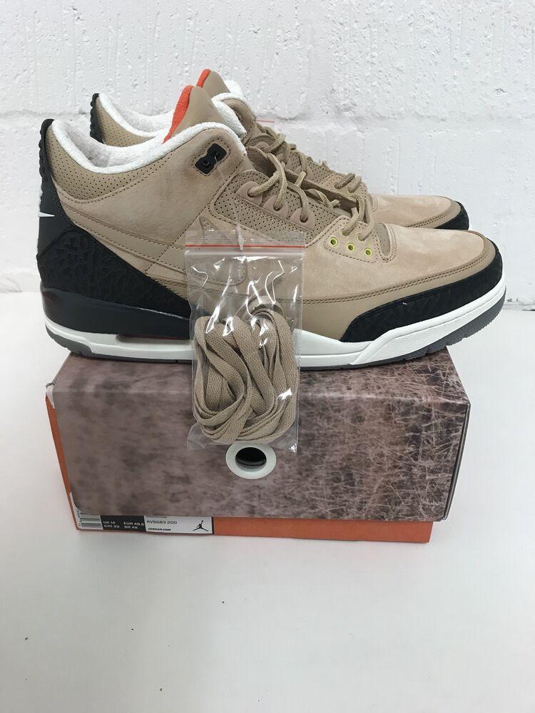 Air Jordan Nike AJ 3 NRG JTH Justin Timberlake Beige UK 14 US 15 AV6683-200-