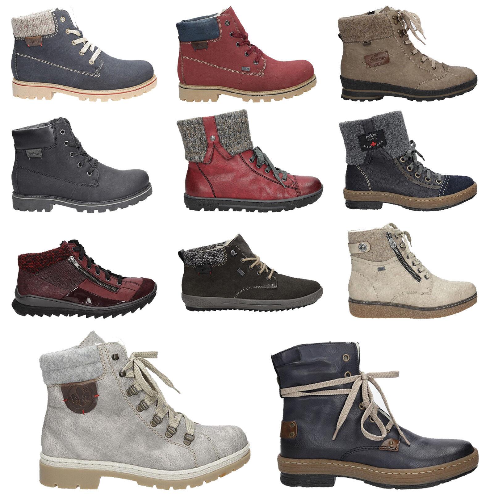 Rieker zapatos señora botines invierno cómomujerte zapatos de cordones cálido ocio talla 36-41