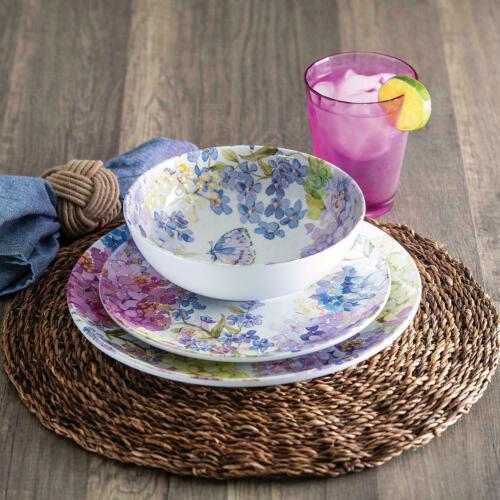 Floral Garden Member/'s Mark 18-Piece Melamine Dinnerware Set
