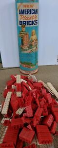Vintage-American-Plastic-Bricks-Original-Canister-Halsam-Products-Company