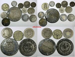WORLD-COINS-LOT-OF-17-SILVER-COINS-ALL-CIRCULATED