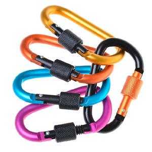 Mousqueton Porte-clés Crochet Clip D-Ring Aluminium Sport Camping ... 0f0588afaf2