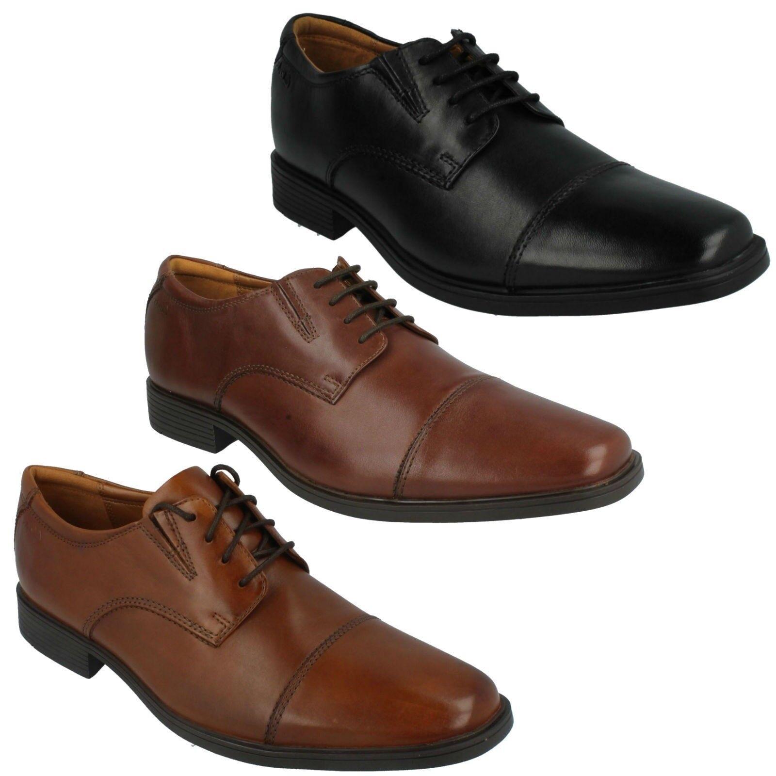Descuento de la marca Gorra para hombre CLARKS TILDEN Puntera De Cuero Con Cordones Inteligente Zapatos Formales De Trabajo Fiesta