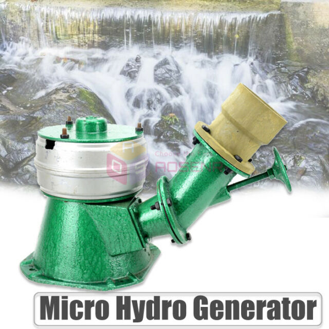 500W 220V Micro Hydro Water Turbine Electric Generator Hydroelectric Power  NEW
