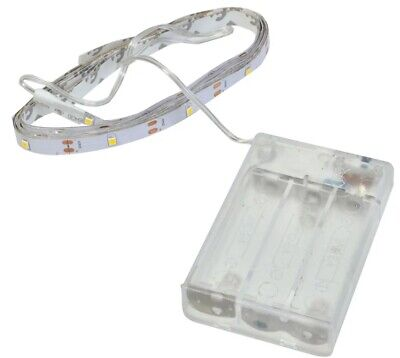 SELF ADHESIVE STRIP LIGHT LAMP WARM WHITE BATTERY OPERATED 60 LED TAPE 230 cm