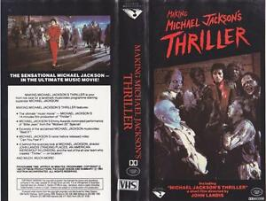 MICHAEL-JACKSON-MAKING-MICHAEL-JACKSON-THRILLER-VHS-PAL-VIDEO-A-RARE-FIND