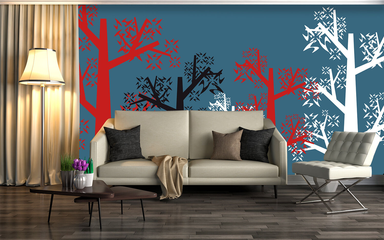 3D tree abstract fashion Wall Paper Print Decal Wall Deco Indoor wall Mural