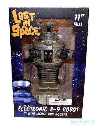 DIAMOND SELECT Lost in Space Robot B-9 Electronic Action Figure NEW MIB!