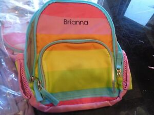 Pottery Barn Kids Fairfax Pre K Multi Rainbow Backpack