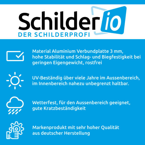 "Hinweisschild 300x200 mm /""Rauchen verboten/"",Hochformat stabile Aluminiumverbund"