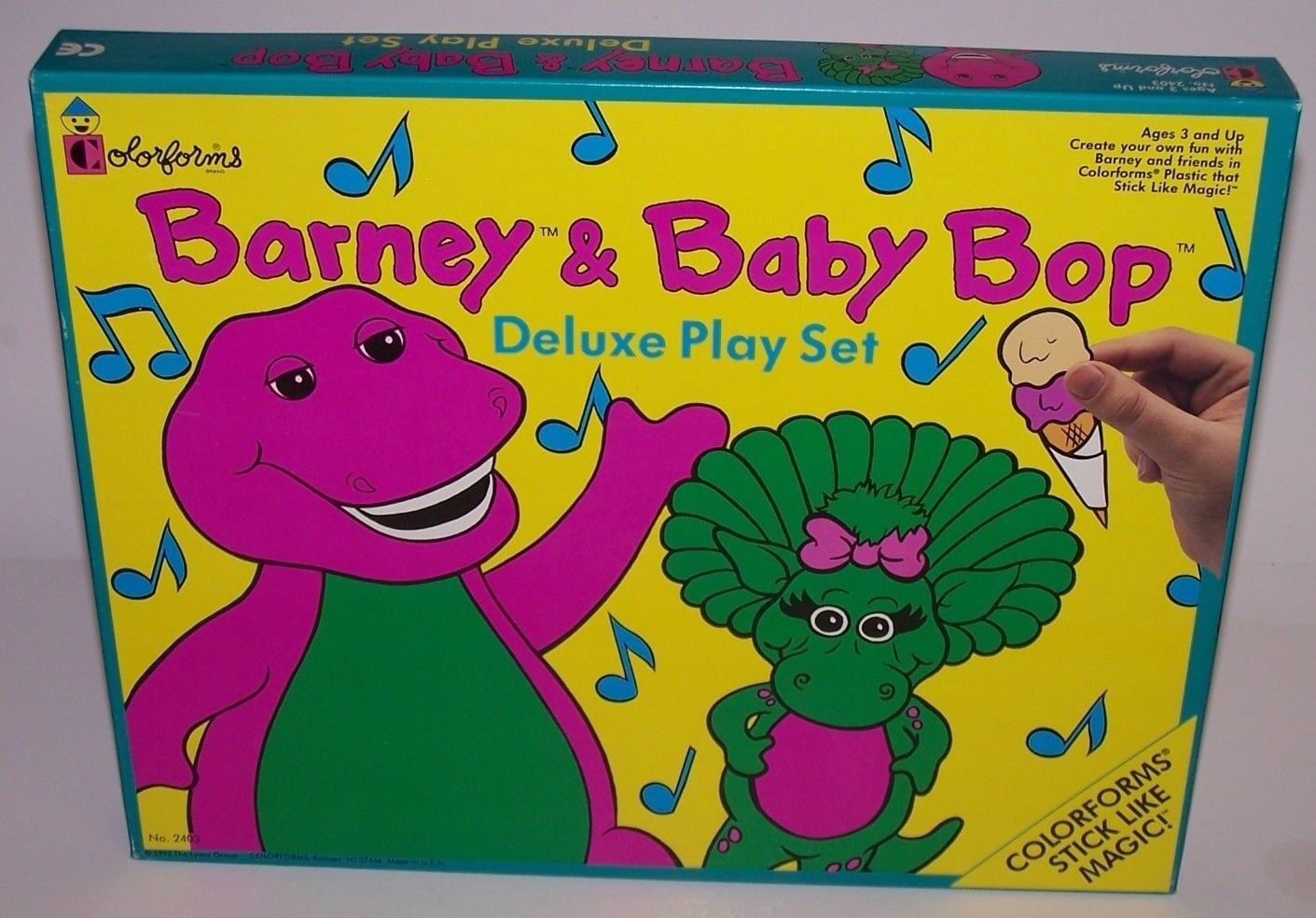 Barney & Baby Bop Rub N Deluxe Play Set colorforms Ages 3+ NIB