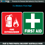 First-Aid-amp-Fire-Decal-Set-110mm-x-100mm-OH-amp-S-WHS-car-safety-sticker-F023