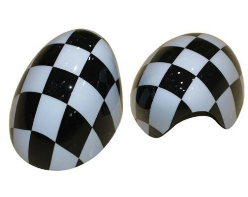 Checkered UK Flag Car Door Side Mirror Covers For MINI Cooper F55 F56 F57 F58