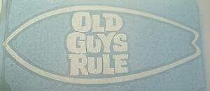 old guys rule surfboard skateboard car campervan window sticker 200mm