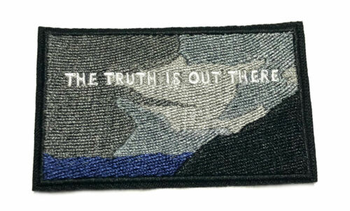 Truth Is Out There Embroidered Patch Iron//SewOn Applique X-Files Cryptid Mystery