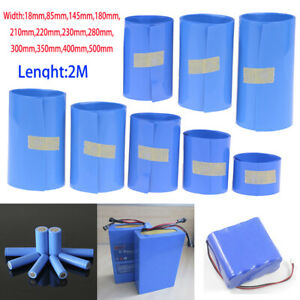 2M-18650-Li-ion-Battery-Heat-Shrink-Tube-Wrap-Skin-PVC-Shrinkable-Tape-Sleeves
