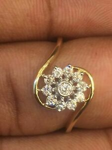 0-30-Cts-Ronde-Brillante-Couper-Diamants-Anniversaire-Bague-En-585-Solide-14K-Or