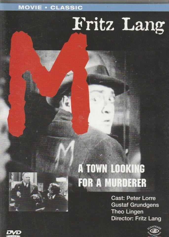 M , instruktør Fritz Lang, DVD