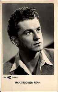 Echtfoto-AK-Hans-Ruediger-RENN-Portraet-Foto-Photo-DEFA-Film-Buehne-Kino-1960