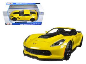 1-24-Maisto-2015-Chevrolet-Corvette-Stingray-C7-Z06-Diecast-Model-Yellow-31133