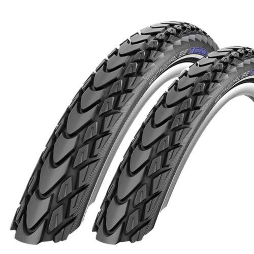 2x Schwalbe Marathon Mondial Fahrrad Reifen 26 28 Zoll Pannenschutz Reflex
