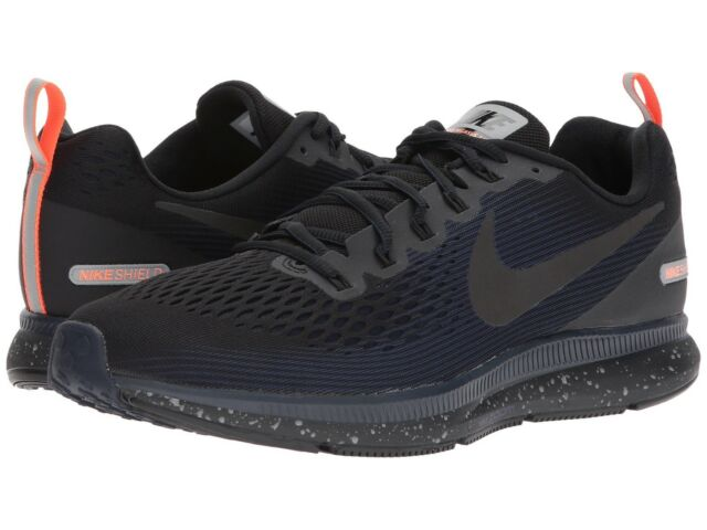 best service e6f76 4574b Nike Air Zoom Pegasus 34 Shield Water Repel Black Blue Men Running  907327-001 10