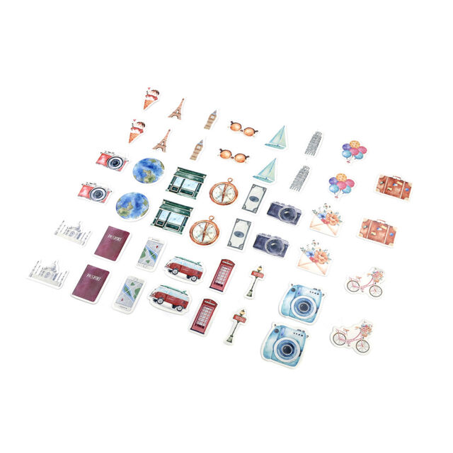 Cartoon 46PCS A Person/'s Travel Paper Stickers Diary Decoration DIY Scrapbooking