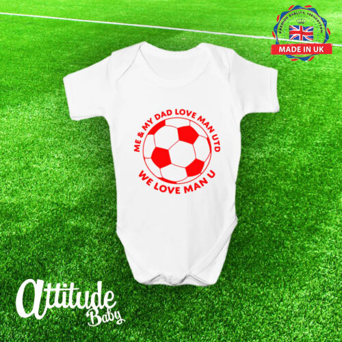 Baby Vest 100/% Cotton-Football Baby Vest Baby Gift Man United Baby Grow