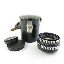 M42 Carl Zeiss Jena Zebra PANCOLAR 1.8/50 Thorium Glas Objektiv / lens + Case