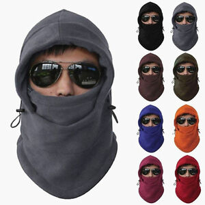 Details about NEW Fleece Winter Balaclava Ski Motorcycle Neck Face Mask Hood  Hat Helmet Cap d7bde2c9326