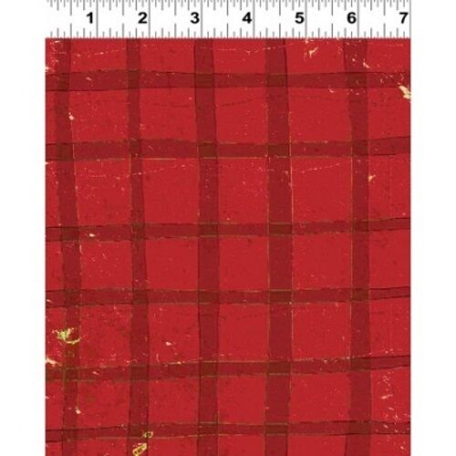 Clothworks Santa/'s on His Way by Dan DiPaolo Y1737 82 Red Plaid   Cotton Fabric