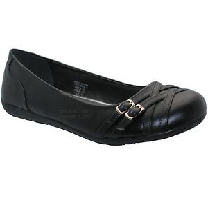 Ladies //Girl  Flat Slip On Dolly Pumps.Various Sizes.Two Colours.BNIB