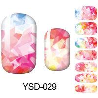 14pcs/Sheet Nail Wraps Full Stickers Girl Sky Pattern Decals DIY 029-032
