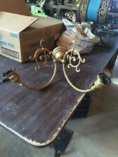 Lt 18 Single Brass 2 Arm Early Electric Sconce
