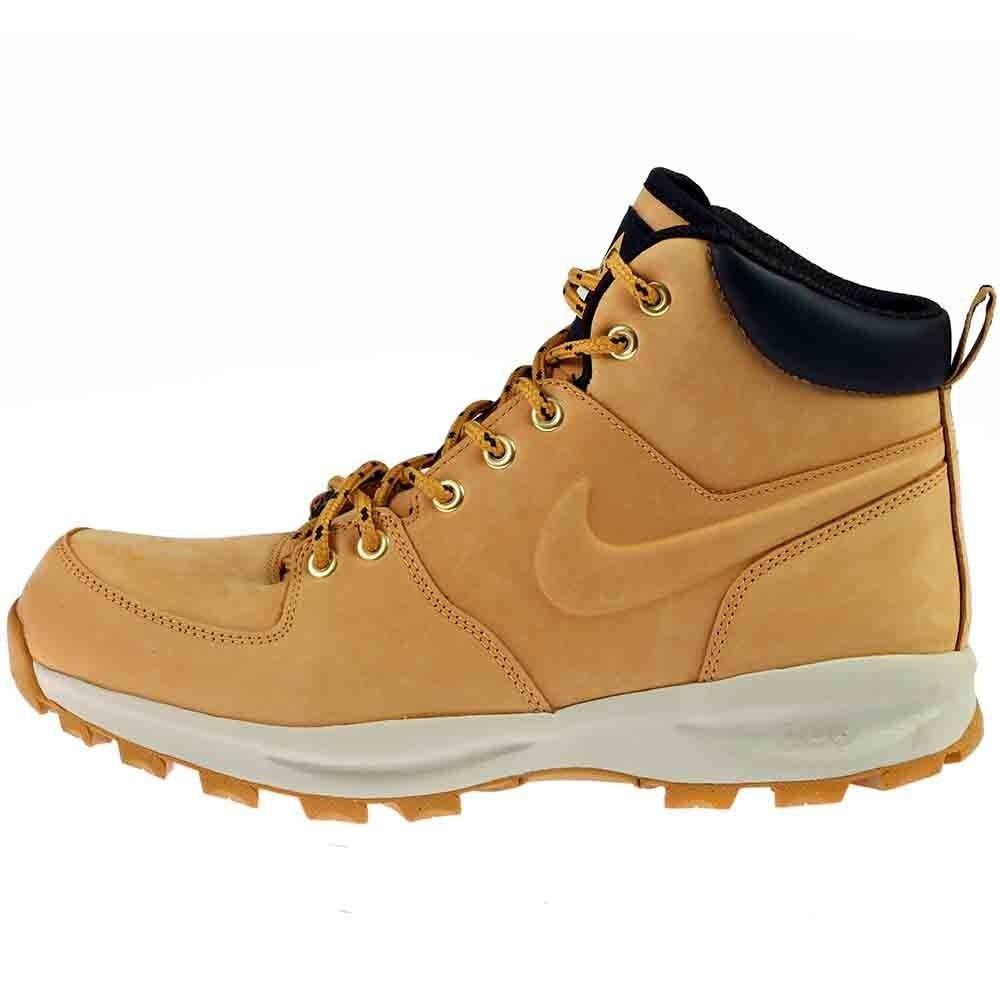New Nike Men's MANOA LEATHER Waterproof Boots  (454350-700)  Haystack  Brown