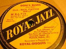 78 rpm-BUCK CLAYTON SEXTET- Don's blues - High tide- ROYAL JAZZ 719