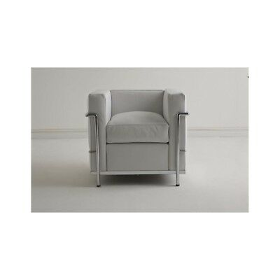 Capace Armchair Poltrona Lc 2 In Pelle Realizzabile In 48 Colori.made In Italy Made I Giada Bianca