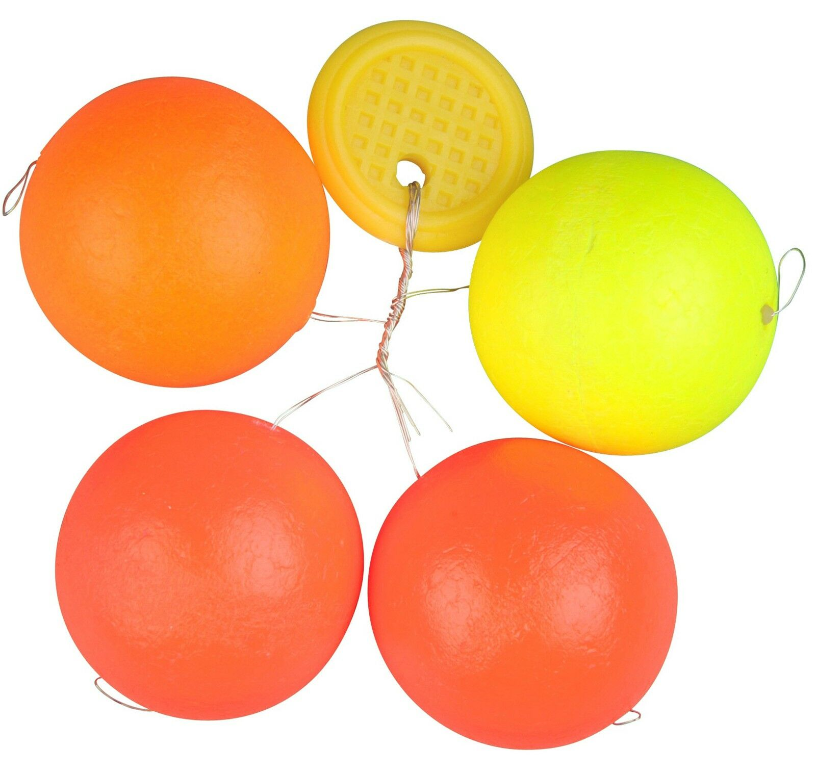 FTM Trout Piloten rund orange//gelb 3 Pilotposen zum Forellenangeln Bissanzeiger zum Angeln auf Forellen am Forellensee