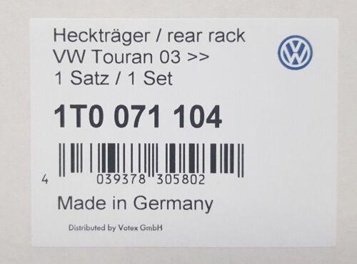 Nuevo GENUINO VW Touran Accesorio Del Portón Trasero 2 Soporte de bicicleta portador