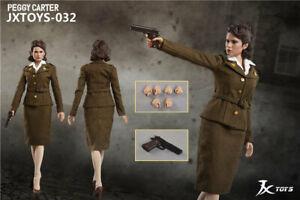 JXTOYS-032 1//6 Soldier Female Captain America Girlfriend Peggy Carter Doll Model