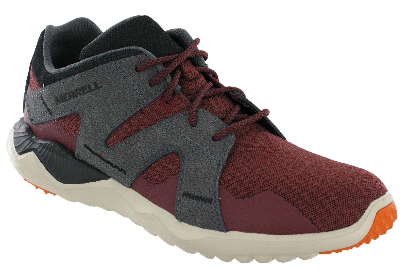 Merrell 1SIX8 Leather & Mesh Leggero Traspirante Scarpe da ginnastica da uomo sportiva rossa Scarpe classiche da uomo