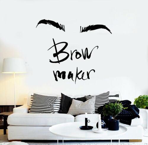 g954 Vinyl Wall Decal Front Maker maquillage sourcils Master Salon de beauté autocollants
