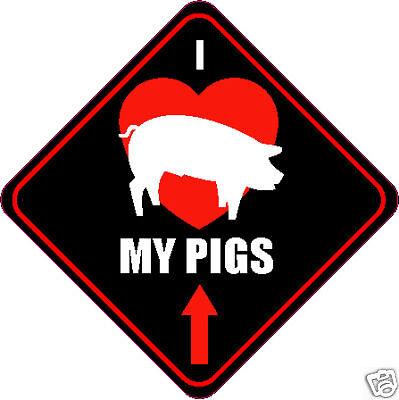 Heart Pig Hog Love Bacon Farm Auto Window Quality Vinyl Decal Sticker 01082