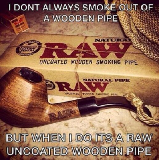 New RAW Natural rolling papers Brand Uncoated Wood Tobacco Smoking Pipe & Pouch