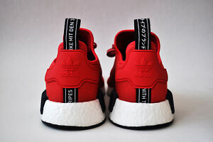 Adidas NMD R1 Red black blue US 11 Women mesh primeknit bounce ... b7da96a64