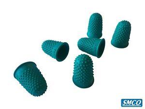 Qualità SmCo thimblettes GOMMA thimblette Verde Taglia 0 16mm CONO Dita Ditale